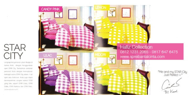 Bed-Cover-Star-City-Midori,-Sprei-Star-Lilac,-Sprei-Star-City-Lemon - Distributor Sprei Murah di Bogor -Katalog-Sprei-Star-All-New-2014-Collection - 081212312065