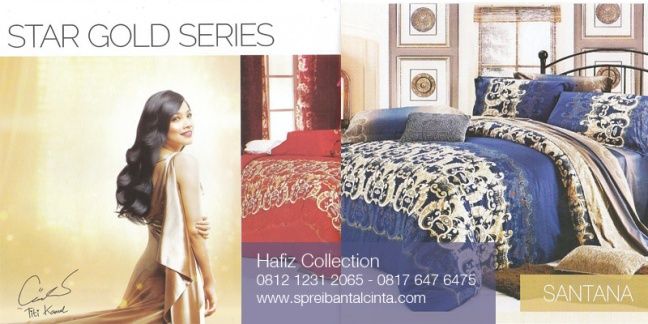 Bedcover-Sprei-Star-Gold-Series-Santana - All New Collection 2014 - 081212312065