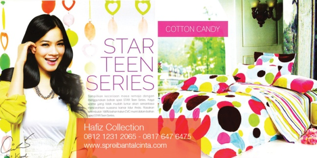 Katalog Sprei-Star-Teens-Series-Bedcover-Cotton-Candy - -Sprei-Star-All-New-2014-Collection - 081212312065