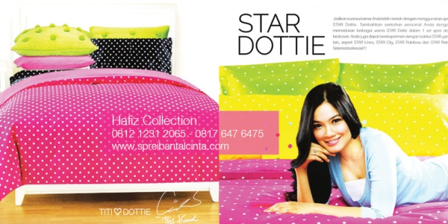Sprei-Dottie -Toko Bedcover di Bogor - Katalog-Sprei-Star-All-New-2014-Collection - 081212312065
