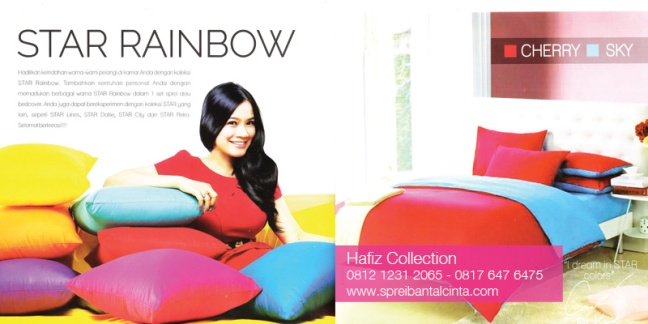 Sprei-Star-Rainbow-Sprei-Polos-Star-Sprei-Pelangi-Star-Katalog-Sprei-Star-All-New-2014-Collection - 081212312065